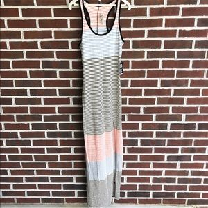 Express fitted maxi dress with side slit